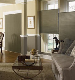 Graber Crystalpleat Cellular shades with Top-Down/Bottom-Up feature